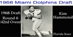 Kim Hammond, drafted by Miami Dolphins in 1968 / Headline Surfer