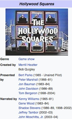 Snapshot of The Hollywood Squares TV game show / Headline Surfer