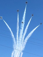 Thunderbirds flyover Daytona International Speedway for Daytona 500 / Headline Surfer