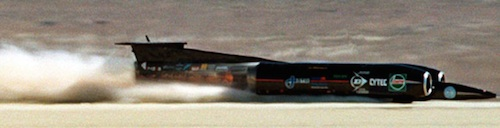 Andy Green sets land speed record in 1997 at Salt Flats in Utah / Headline Surfer