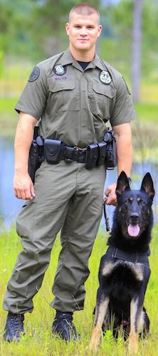 VCSO k9 team of Deputy Kyle Walter & German shepherd, Axe / Headline Surfer®