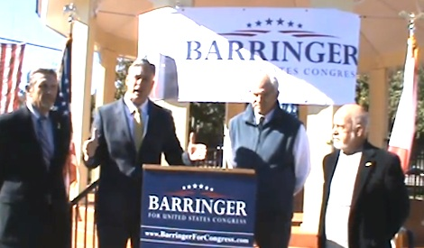 Congressional dis 6 candidate and ex-New Smyrna Beach Mayor Adam Barringer gets endotrsement of three West Volusia mayors / Headline Surfer®