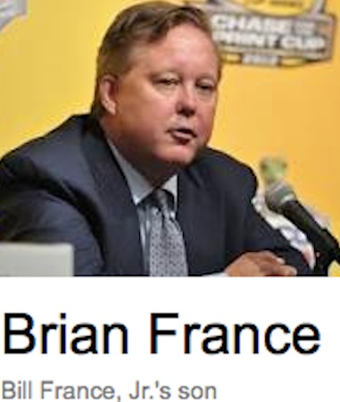 NASCAR CEO Brian France, son of Bill France Jr, came up with The Chase / Headline Surfer®