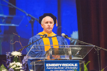 Blue Origins President Rob Meyerson gave the commencement address to Enbry-Riddle Aeoronautical University grads at the Daytona campus / Headline Surfer