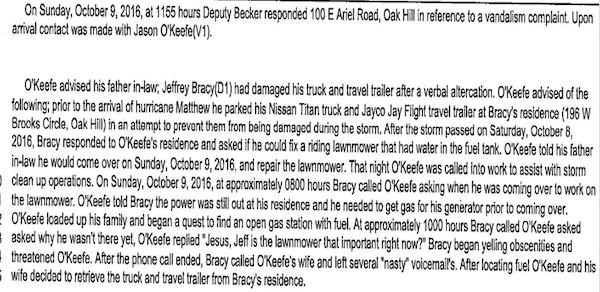 Oak Hill politician Jeff Bracy's record includes 1 arrest, 1