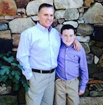 Steve Byrnes with his son, Bryson / Headline Surfer®