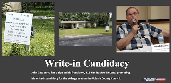 County Cou8ncil at-large write-in candidae John Casaburro / Headline Surfer