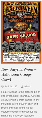 NSB Creepy Cawl banner / Headline Surfer®