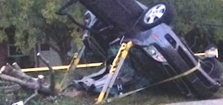 Wrecked Ford Focus where two teens killed in Deltona / Headline Surfer®