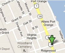 Fatality locator map of Ridgewood and White in Port Orange / Headline Surfer