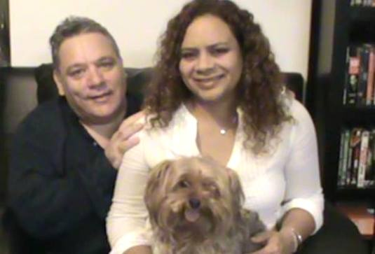 "Henry & Sera Frederick with yorkie ""Napoleon"" in Sanford, FL / Headline Surfer®"
