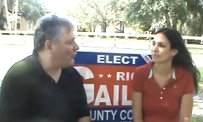 Lisa Gailey, wife of County Council candidate Rich Gailey of DeBary on The Sunday Conversation / Headline Surfer®
