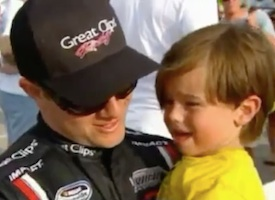 Jason Lefler with his young son before the driver's death on a New Jersey track in 2013 / Headline Surfer