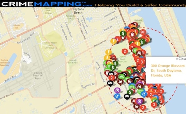 Crime mapping in South Daytona neighborhood where man shot to death / Headline Surfer