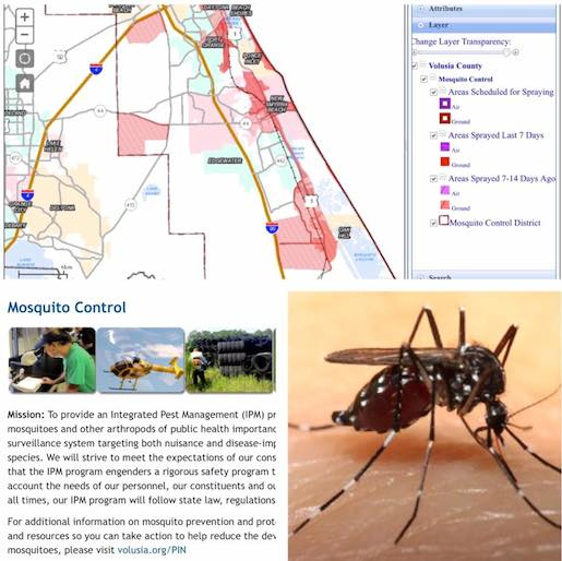 Volusia County mosquito spraying of Mosquito Lagoon in Oak Hill, FL / Headline Surfer