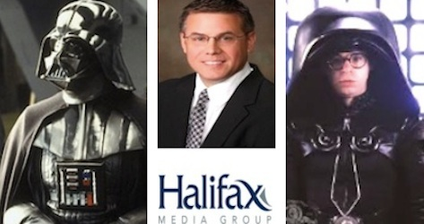Michael Redding, CEO of Halifax Media Group is Darth Vader & Dark Helmet / Headline Surfer®