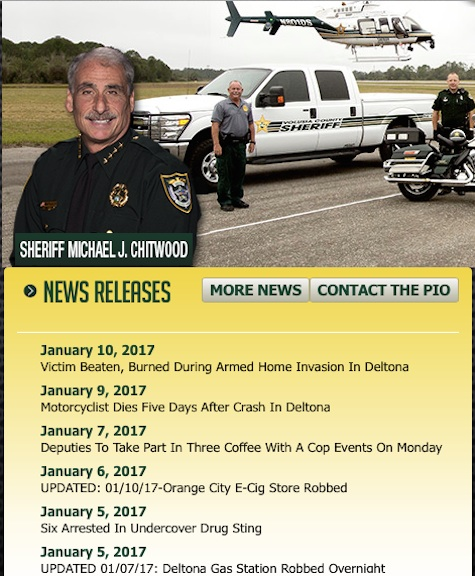 Sheriff's press releases not sent to internet news / Headline Surfer