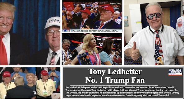 Tony Ledbetter, Volusia GOP chair & Trump fan has died / Headline Surfer Infographic
