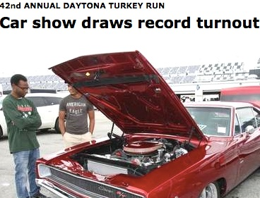 Daytona Beach News-Journal claims record crod for car show without numbers / Headline Surfer®