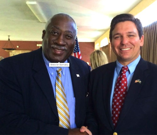County Council at-large candidate Webster Barnaby with Congressman Ron DeSantis / Headline Surfer®