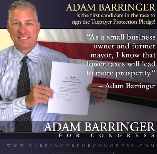Congressional candidate Adam Barringer makes tax pledge while conveniently forgetting he raised taxes as NSB mayor while not paying his own / Headline Surfer®