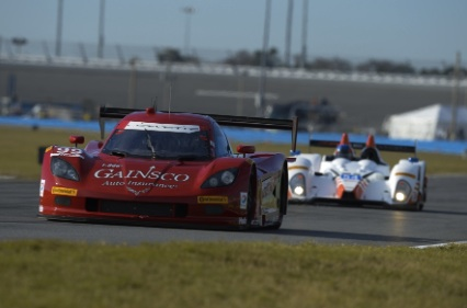 Alex Gurney in the No. 99 DP Corvette was the pole sitter for the Rolezx 24 at Daytona / Head;line Surfer®