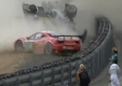 Allan McNiff's crash in the 2011 24 Hours of LeMans race / Headline Surfer