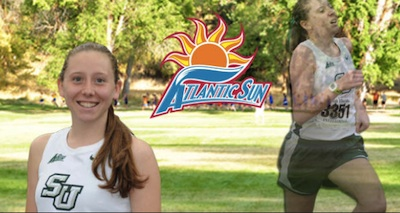 Amanda Spring of Stetson Univ. in DeLand Atlantic Sun Conf. runner week / Headline Surfer