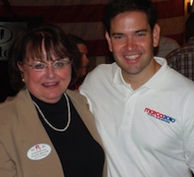 Seminole County School Board member Diane Bauer with Marco Rubio in 2010 / Headline Surfer