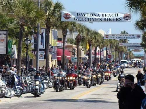 Main Street in Daytona the scene for Bike Week / Headline Surfer®