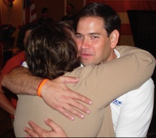 Seminole County School Board member Diane Bauer with M Rubio / Headline Surfer