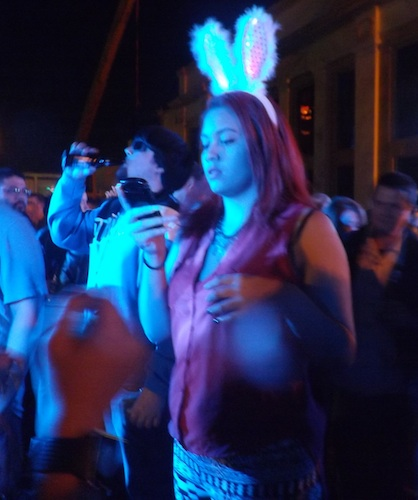 Bunny ears teen gal part of the New Year's Eve party in Daytona / Headline Surfer®