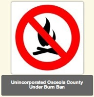 Osceola burn ban for unincorporated areas went into effect Jan. 22 / Headline Surfer®