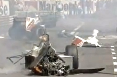 Alex Caffi survives massive crash in 1991 Monaco GP practice / Headline Surfer®
