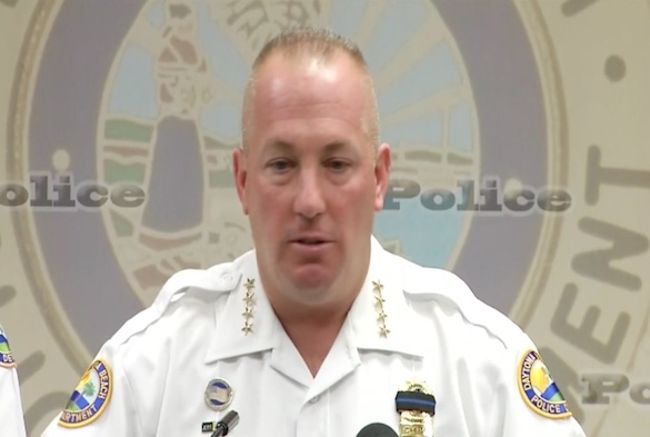 A stoic-looking Daytona Beach Police Chief Craig Capri on the death of a rookie cop/ Headline Surfer