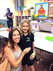Misty Burris Catheline of NSB with daughter Olivia 1st day of school / Headline Surfer®