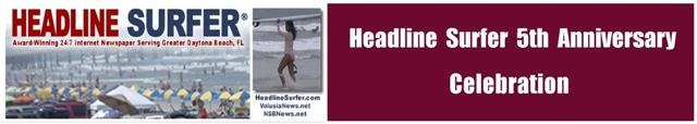 Award-winning 24/7 internet newspaper's 5th anniversary celebration / Headline Surfer®