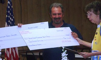 Mark Geallis of HUM accepts checks / Headline Surfer®
