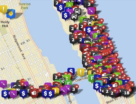 Crime mapping in Daytona Beach / Headline Surfer®