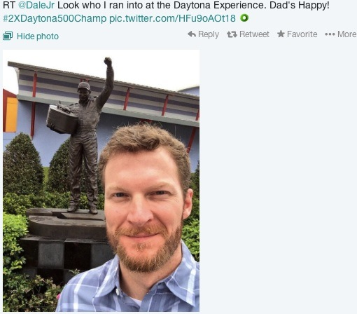 Dale Earnhardt Jr's famous tweet for his father after Daytona 500 win / Headline Surfer®