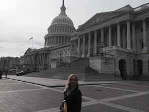 Dana Doughrrty at the Capitol Building in Washington DC / Headline Surfer®
