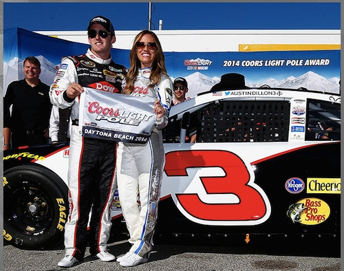 Austin Dillon wins pole for 2014 Daytona 500 in famed No. 3 Chevrolet wheeled by late Dale Earnhardt / Headline Surfer®