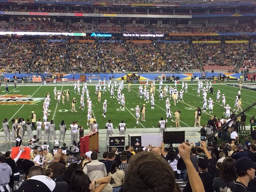UCF Knights take the field at the Fiesta Bowl / Headline Surfer®