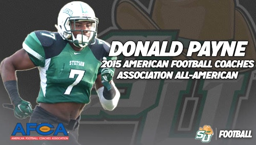Donald Payne, junior defensive back named to FCS All America Team / Headline Surfer®