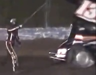 Driver Kevin Ward, Jr. points to Tony Stewart before he is struck & killed / Headline Surfer®