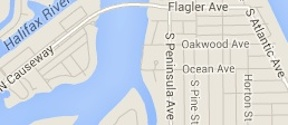 Map of drowning in New Smyrna Beach near Flagler Avenue / Headline Surfer®