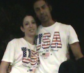 Fireworks couple in Sanford, Florida for 4th of July, 2014 / Headline Surfer®