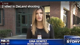 Fox 35 Orlando news crew gewts no information from DeLand PD regarding double homicide shooting / Headline Surfer
