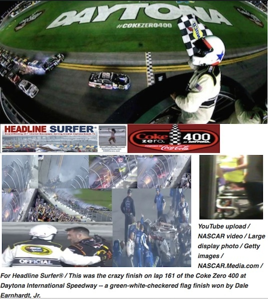 Henry Frederick wins 1st place in breaking sports news in 20q156 for car in catch fence at Daytona  / Headline Surfer