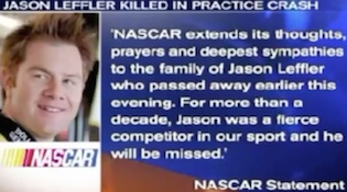 NASCAR statement in 2013 on death of driver Jason Leffler / Headline Surfer